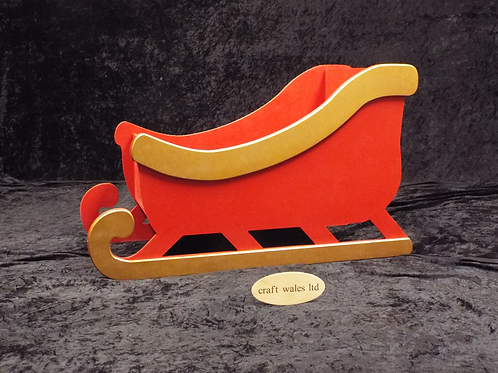 Santa Painted Sleigh  800mm