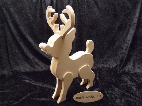 Unpainted MDF Reindeer Kit Freestanding