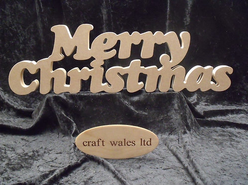 Merry Christmas MDF Freestanding Sign