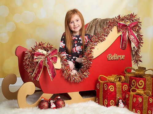 Painted Santa's Sleigh 1150mm