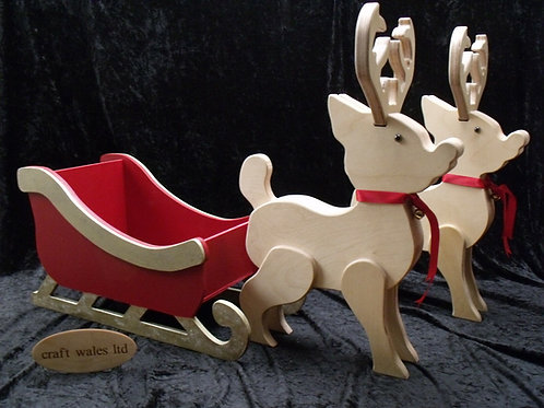 Sleigh/Reindeer MDF Freestanding
