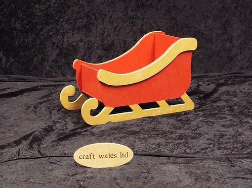 Painted Santa's Sleigh 445mm