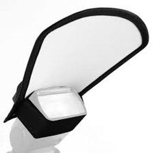 Difusor rebotador plata/blanco para flash speedlite