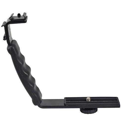 Bracket universal con doble montura de zapata cámara y accesorios
