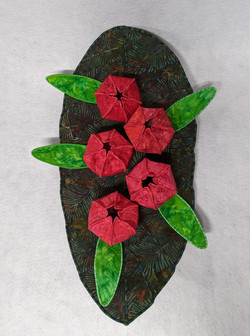 Leaf Bowl with Pomegranates