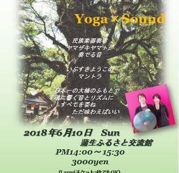 6月10日14時より蒲生町の大楠もとでヨガをやります。