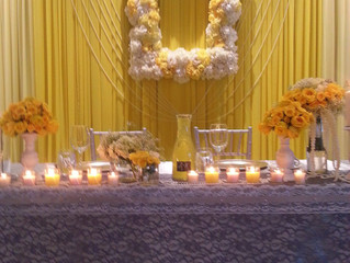 Yellow, Lace, & Pearls