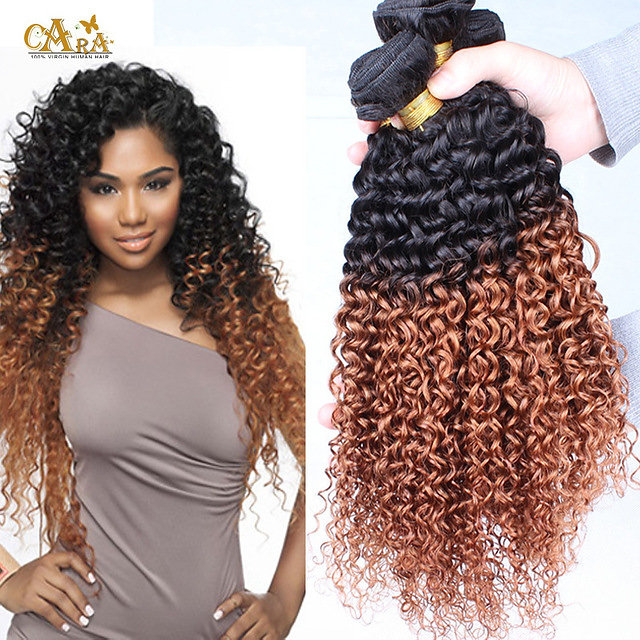 Buy wigs online new york wigs on sale ombre hair weave color ombre hair weave color 1b30 kinky curly virgin human hair 3 bundles pmusecretfo Choice Image