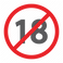 no_eighteen_age_prohibited_zone_sign_for