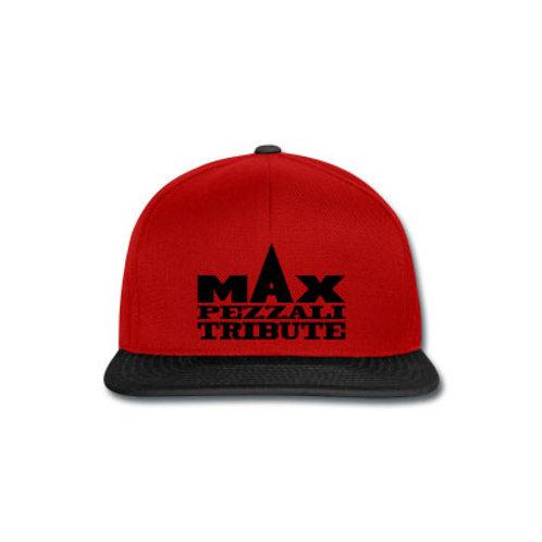 """Cappellino Snapback """"Max Pezzali Tribute"""" - Rosso/Nero"""
