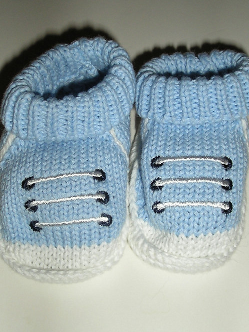 Carters booties blue/white size 0-6 mo