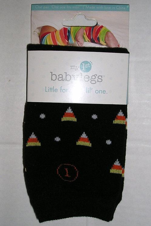 Baby Legs crawlers black/candy