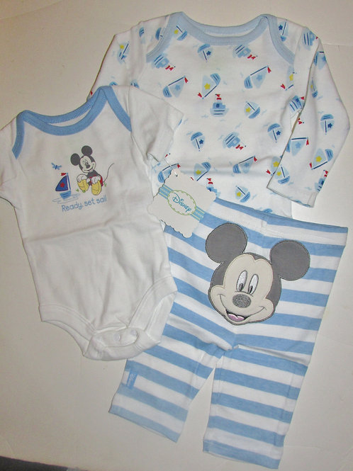Disney Mickey white/blue size 0-3