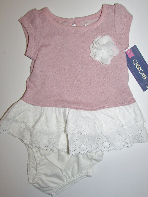 Cherokke dress set coral/white size N