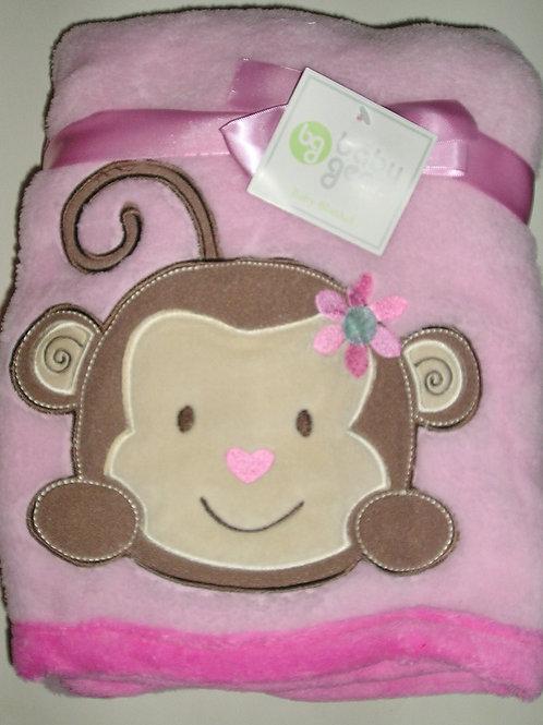 Baby Gear blanket pink/monkey
