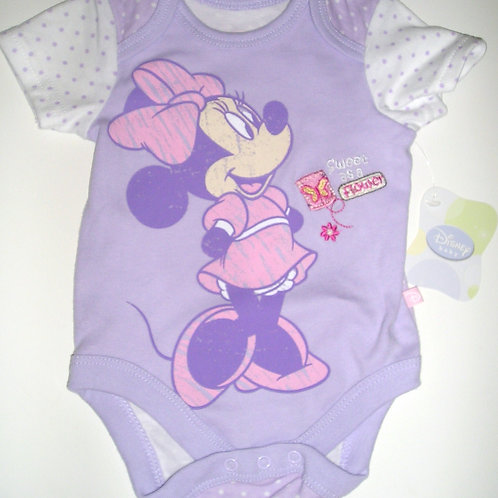 Disney Minnie purple/white size N