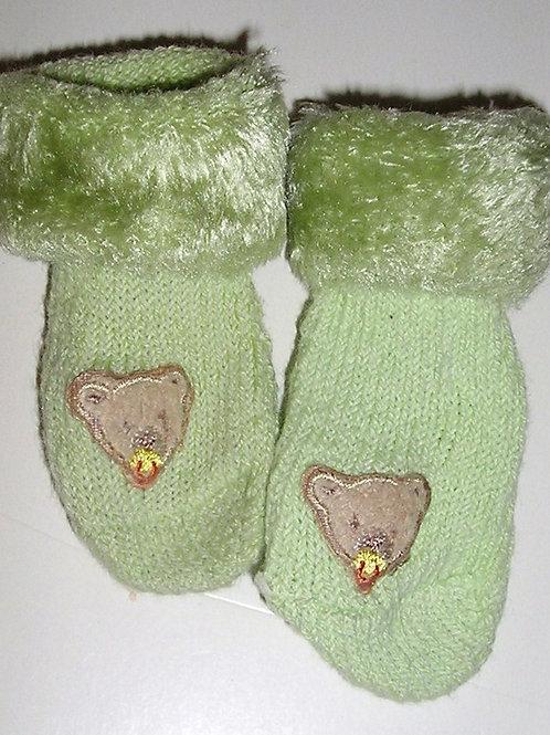 Child of Mine socks green/bear size P