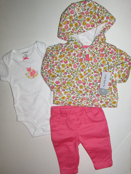 Carters floral/pink size N