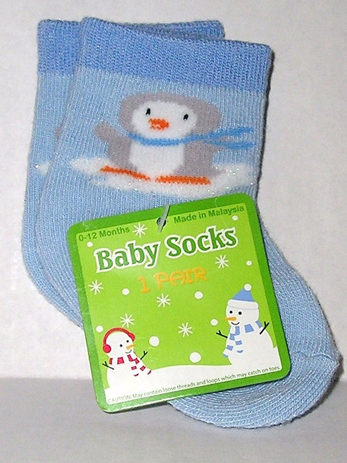 Baby socks blue size 0-12 mos