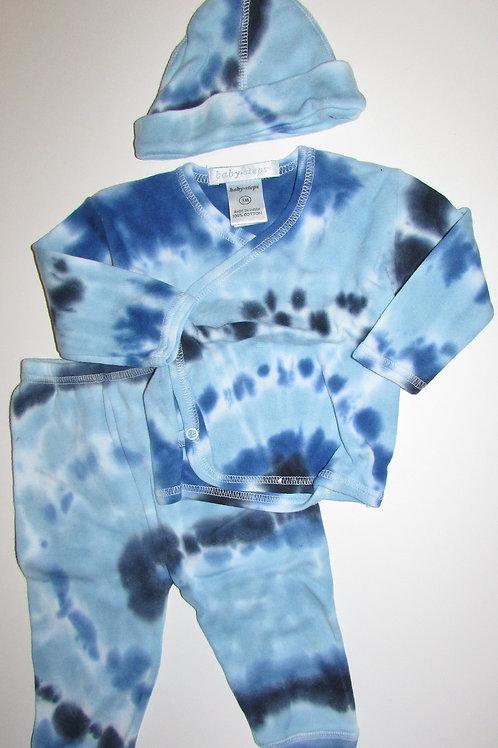 Baby Steps blue/tie die size 3 mo