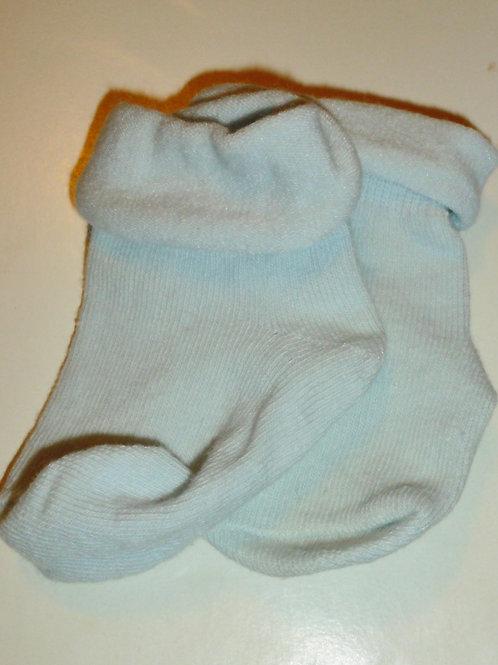 George socks light blue size 0-3 mos