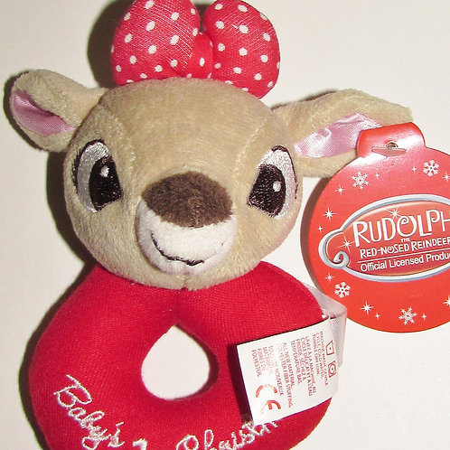 Rudolph/Clarice plush ring Xmas motif choose style