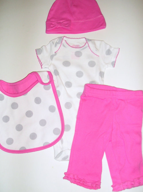 Child of Mine 4 pc pink/white size N
