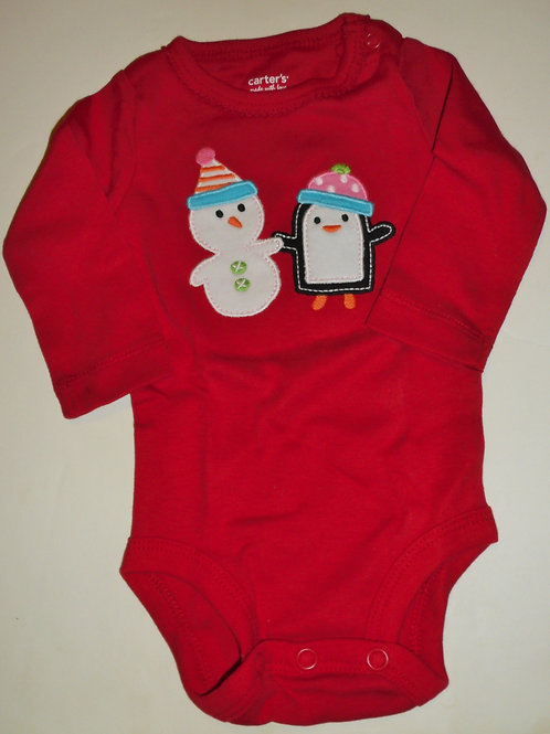 Carters creeper red/snow size N