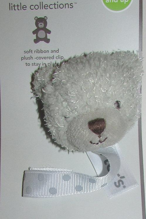 Carters pacifier clip white bear