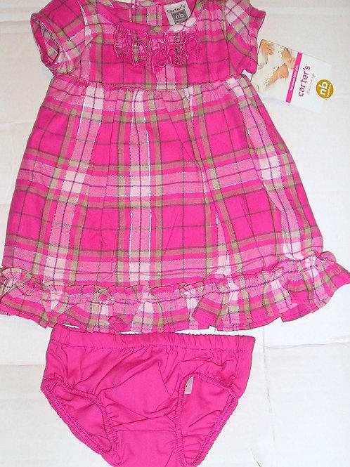 Carters set pink/plaid size N
