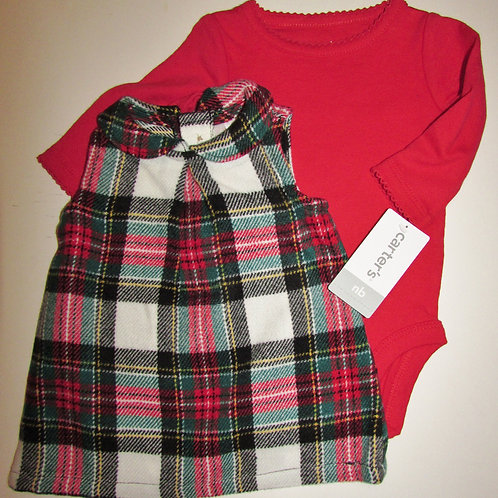 Carters red/plaid size N
