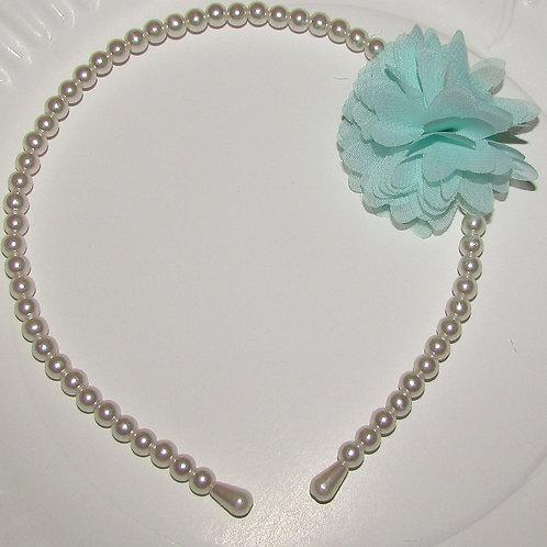 Basic headband faux pearl/flower choose color