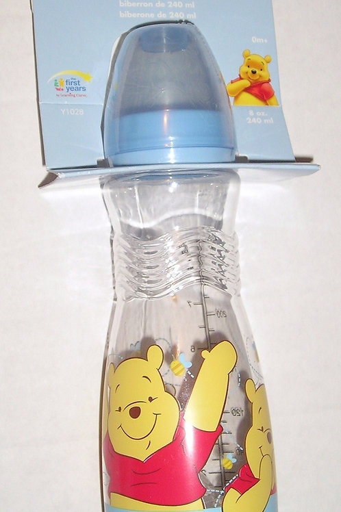 Disney bottle blue/waving Pooh