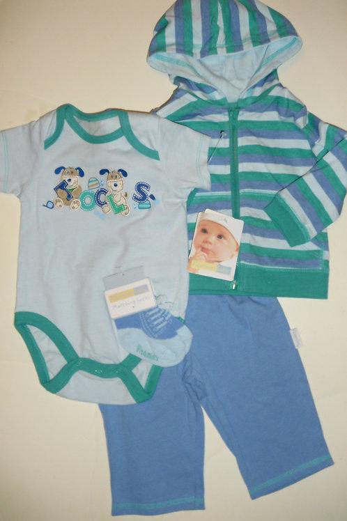 Vitamins Baby 4 pc set green/blue size 0-3 mos