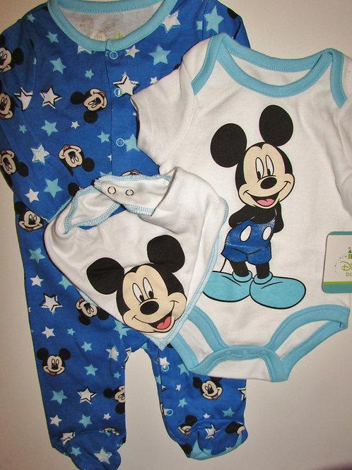 Disney blue/stars Mickey size 0-3
