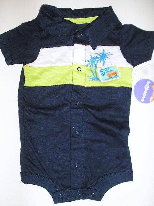 Babies R Us creeper navy/tree Newborn