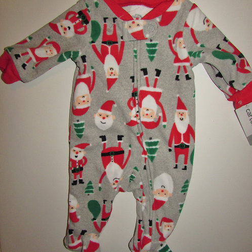 Carters flc sleeper gray/Santa size N