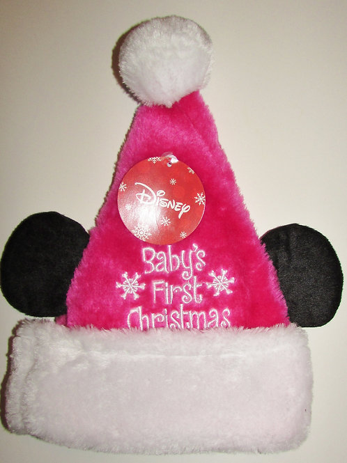 Disney Santa Hat flc pink/mouse ears Infant