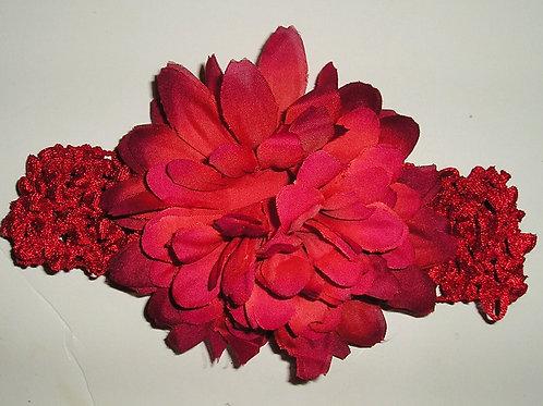 Faded Glory crochet headband/floral size LN