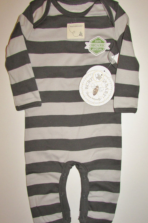 Burt's Bees gray stripes size 0-3 mo