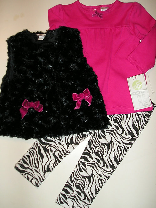 Baby Gear black/pink size 0-3