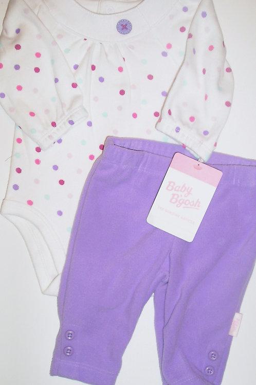 Baby B'Gosh white/purple size N