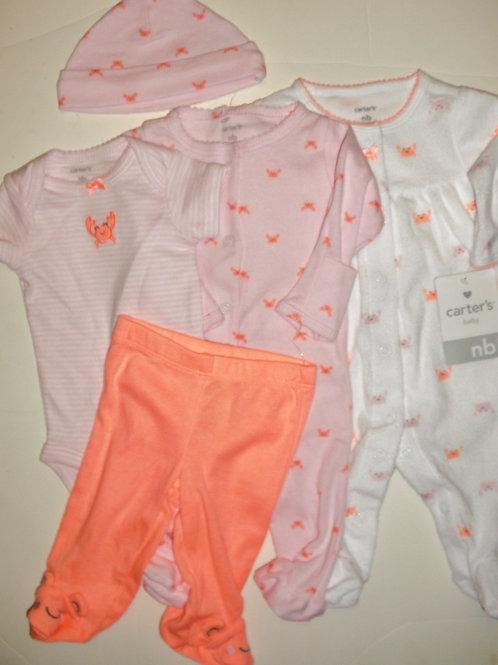 Carters pink/orange size N