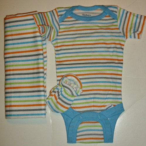 Gerber 3 pc set stripes Newborn