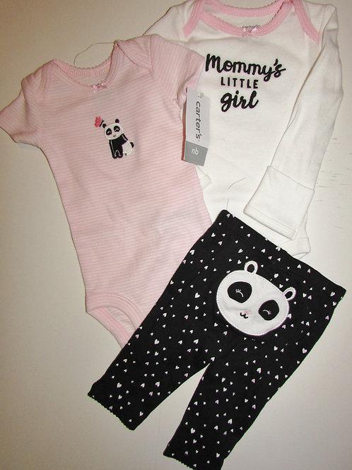 Carters black/pink size N