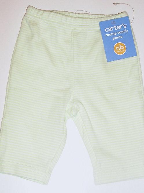 Carters pants green/stripes Newborn
