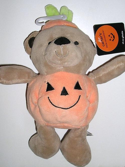 Carters plush bear/pumpkin motif