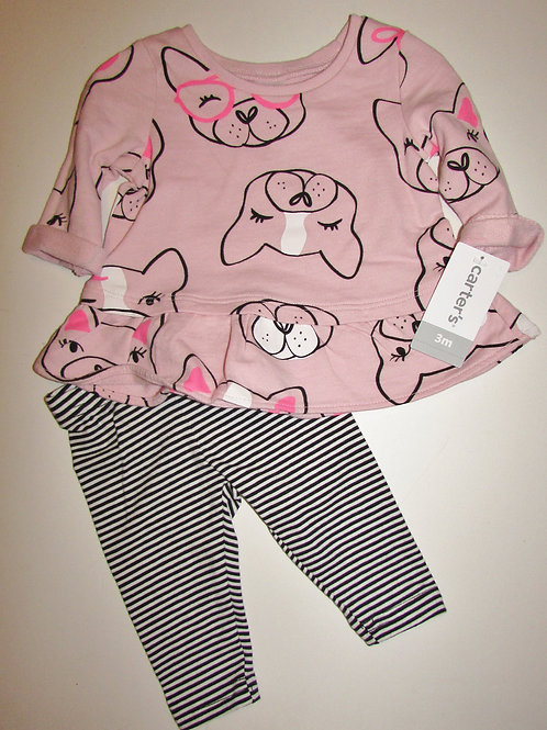 Carters pink/dog size 3 mo