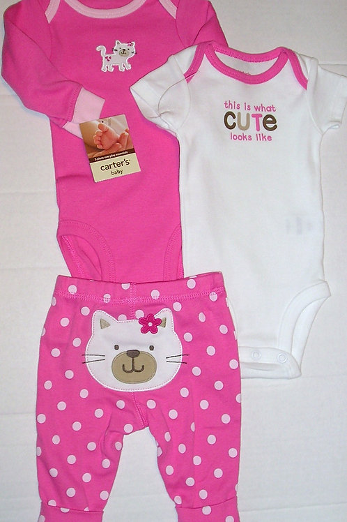 Carters pink/white size N