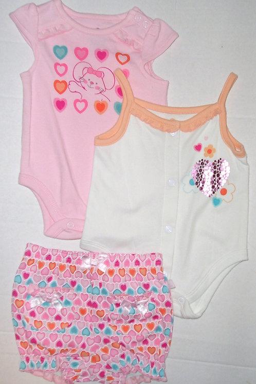 Small Wonders 3 pc set peach/white Newborn